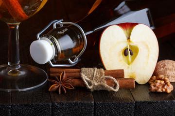 Apple cider close-up