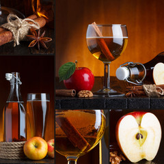 Apple cider beautiful collage