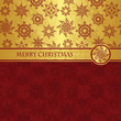 Christmas card for seamless background with snowflakes