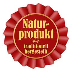 naturprodukt traditionell hergestellt button rot