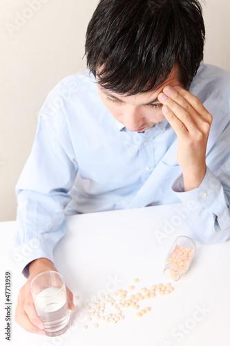 薬物依存症の男性