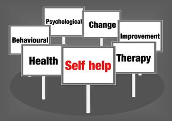 Self help signs