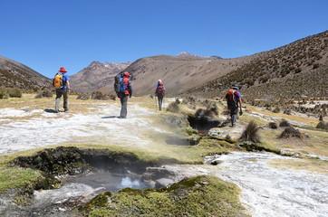 Randonneurs Altiplano Bolivie
