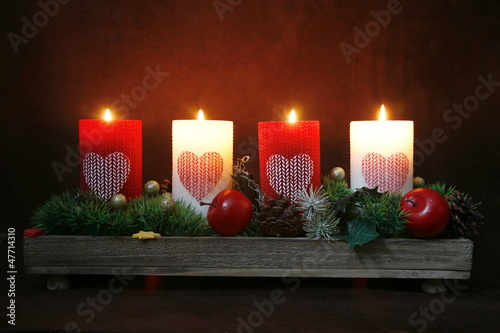 Adventskranzgesteck