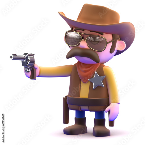 Cowboy takes aim