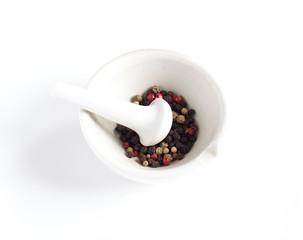 Pepper in a mortar