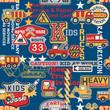 Kid trucks seamless pattern