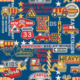 Fototapety Kid trucks seamless pattern