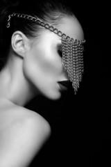 glamor  beautiful sexy Caucasian woman with jewelery