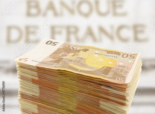 banque de France, liasse de billets