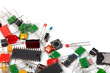 Electronics components background - 47717105