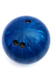blue ball game in bowling