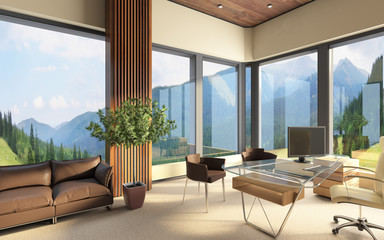 Office Space In Big Contemporary Building