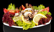 Healthy Seafood Salad with shrimps,octopus and mussels,squids
