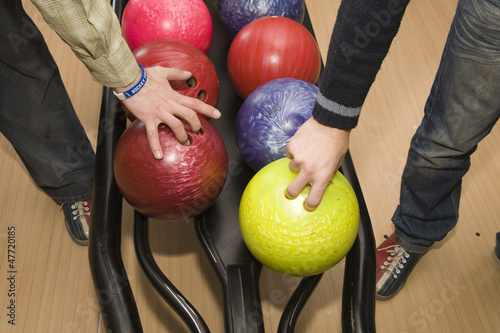 hands of men by bowling