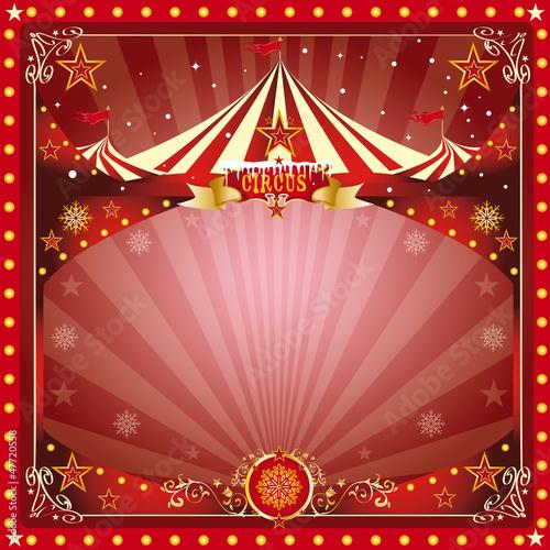 Christmas circus card