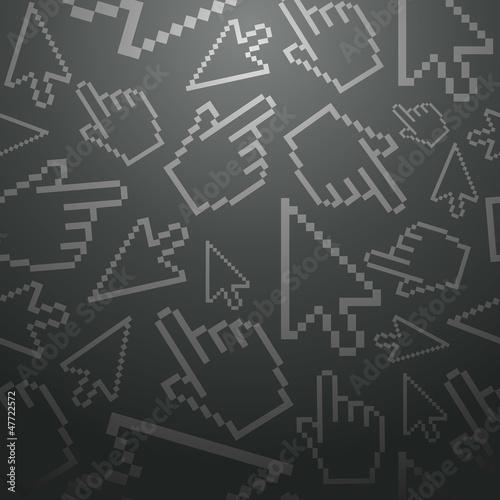 Pixel cursors seamless pattern