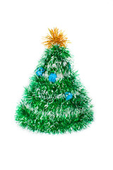 Toy fir-tree from tinsel
