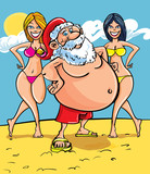Santa at the seaside