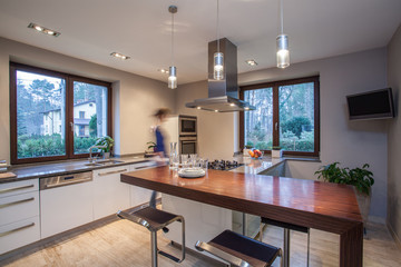 Travertine house - stylish kitchen