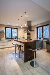 Travertine house - contemporary kitchen