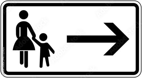 fototapete fu g nger gehweg gegen ber benutzen zusatzzeichen. Black Bedroom Furniture Sets. Home Design Ideas