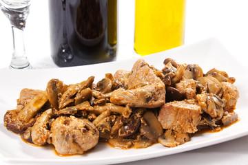spezzatino di carne con funghi