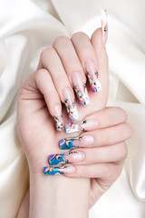 nail art close-up