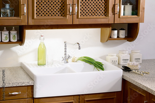 country-style kitchen sink