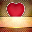 Valentine background: heart over retro texture