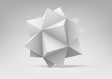Fototapety Polyhedron with triangular faces
