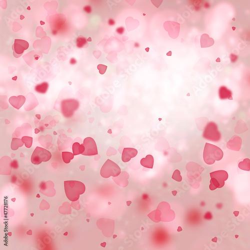 Valentine background: heart tornado