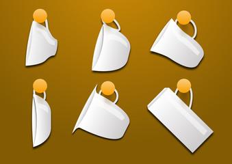 Tazzine di caffè vector