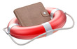 Wallet in the lifebuoy