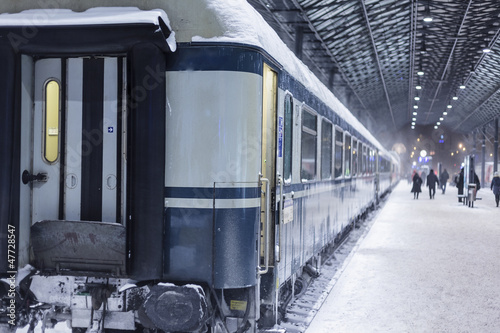 Train at winter