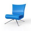 Moderner Sessel isoliert - Blau