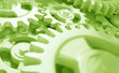 Zahnrad Uhrwerk Grün
