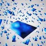 Fliegende Tablets - Weiß Blau