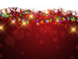 Christmas lights and snowflakes background