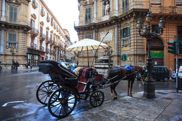 Buggy in the Quattro Canti, Palermo
