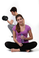 Keep fit couple