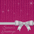 Bow and stars Christmas card in vector format.