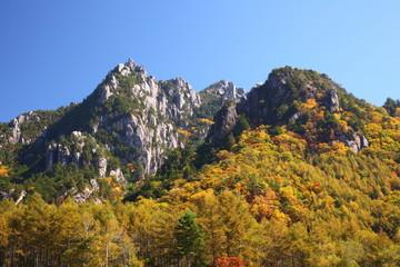 Mt. Mizugaki in autumn, Yamanashi, Japan