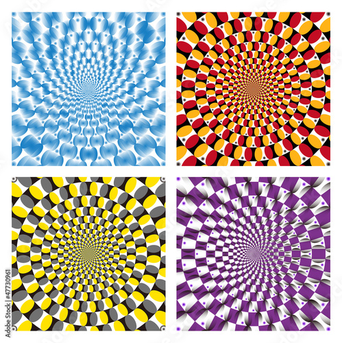 Vector Optical illusion Spin Cycle set