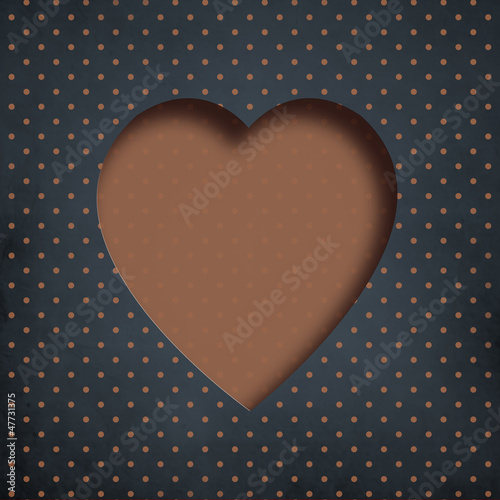 Grunge dotted Valentines day background with copyspace