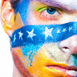 color face art men make-up