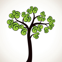 abstract tree with creative leaf stock vector