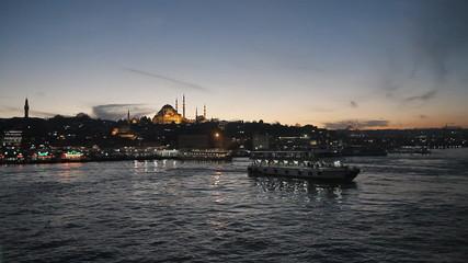 Mosque near Galata bridge, Istanbul, Turkey