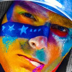 color face art men