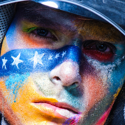color face art men